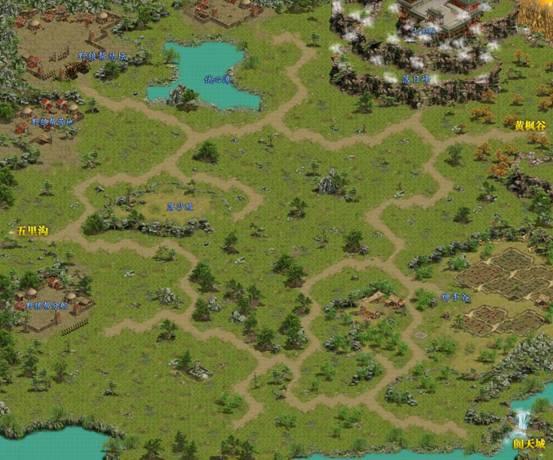 游戏界面会出现大地图