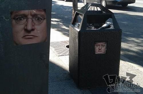 街边垃圾桶现valve公司ceo照片