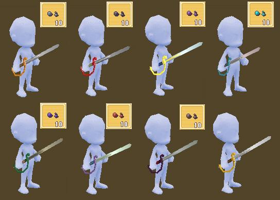 骑兵剑的配色图例