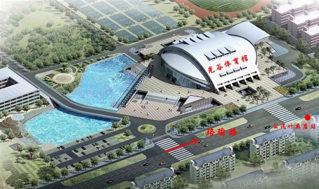 华中科技大学俯视图-华科体育馆鸟瞰图-IEF2008新闻通气会在武汉华科大举行 现场组图