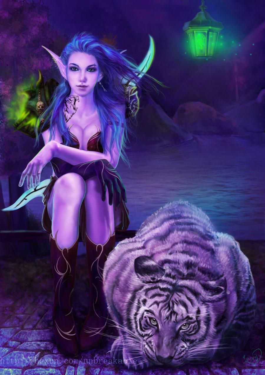 专区_《魔兽世界》 八卦娱乐 > 暗夜精灵和她的宝宝